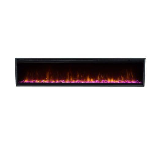 Električni kamin Ignite XL sa ljubičastim prikazom
