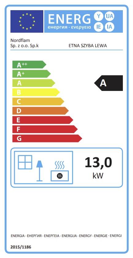 Energetska klasa ugaonogo levog Etna kamina