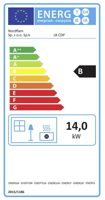 Energetska nalepnica kamin LB CDP