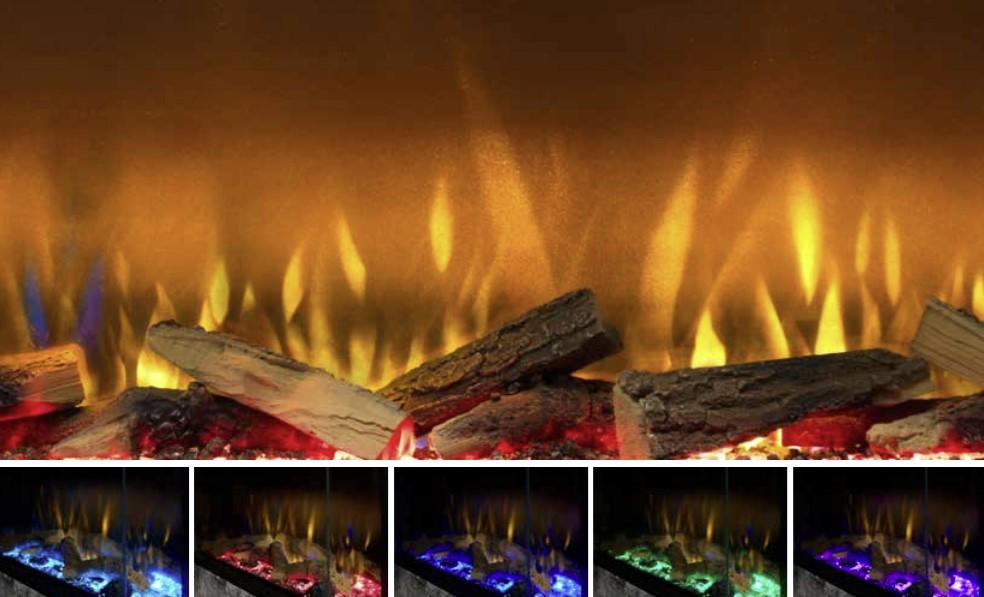 Boje plamena električnog kamina Vivente