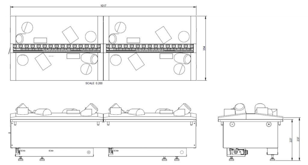 Tehnički crtež Cassette 1000