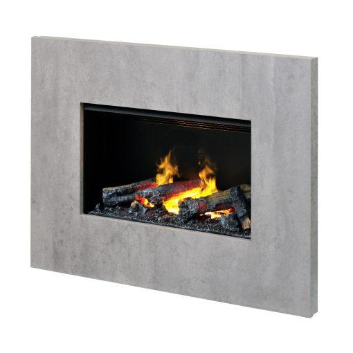 Električni kamin Wall fire L sa ramom Nissum L boja betona
