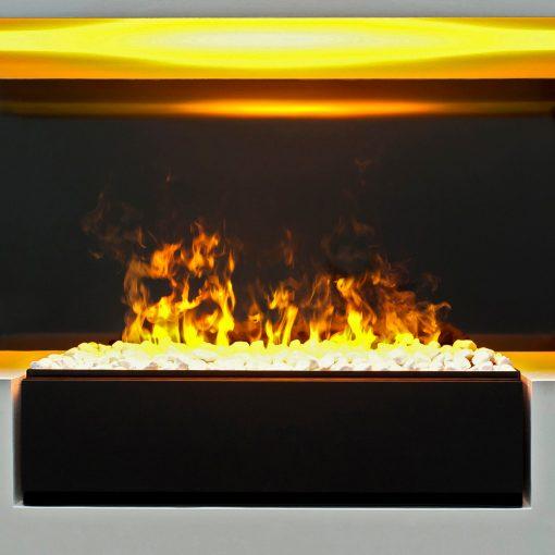 Električni kamin Dimplex sa belim kamenčićima