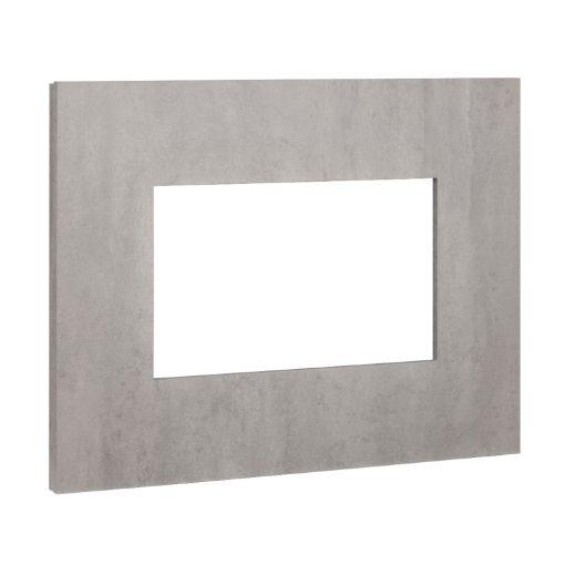 Ram za električni kamin u boji betona Nissum L