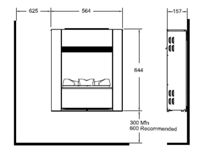 Tehnički crtež Wall Fire Engine L