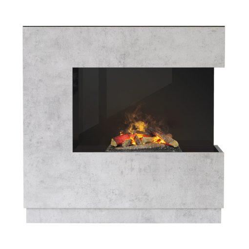 Zen električni kamin boja betona