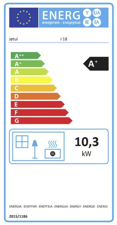 Energetska nalepnica Jotul I 18