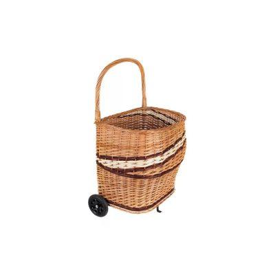 Pletena korpa od pruća za drva sa točkićima - NORDflam