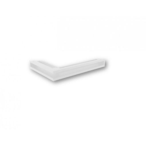 Ventilaciona rešetka za kamin bela ugaona 38x58x9 NORDflam