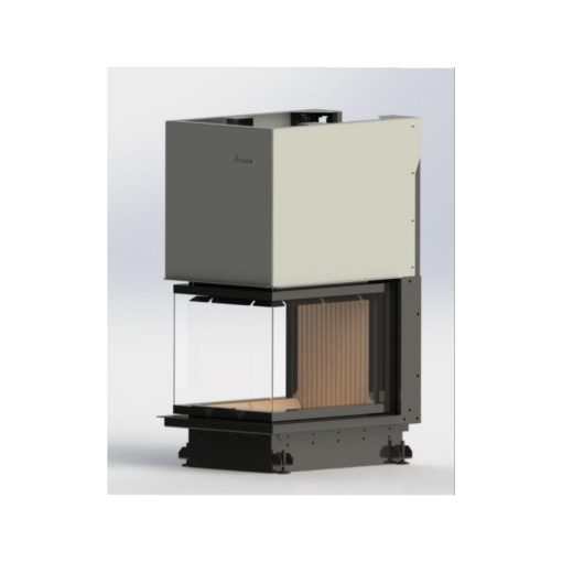 Kamin na drva CRYSTAL 3D ECO 50x60 – Trostrano staklo sa podizanjem – A.caminetti