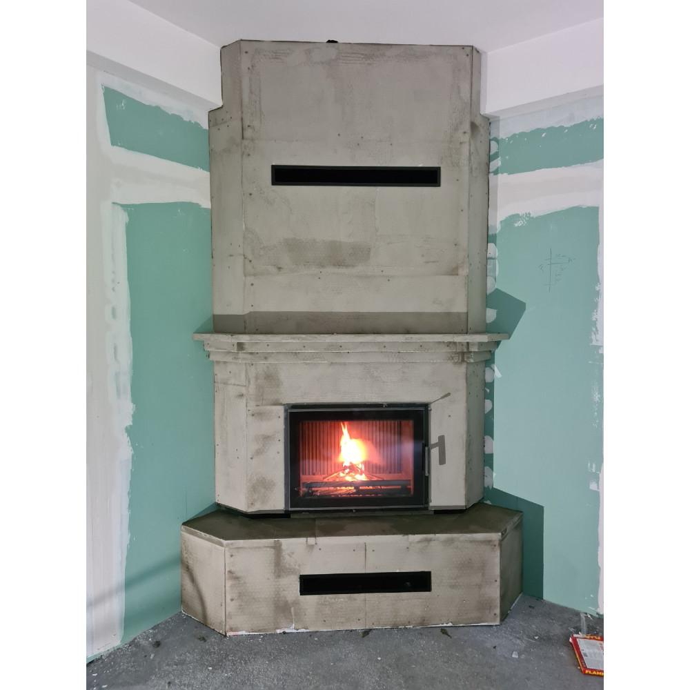 Kamin na drva ugrađen do molerskih radova Torn Lux NORDflam