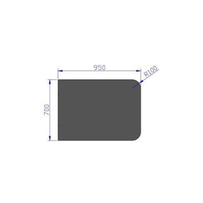 Podloga za peć o čeličnog lima Jotul 700 x 950 mm