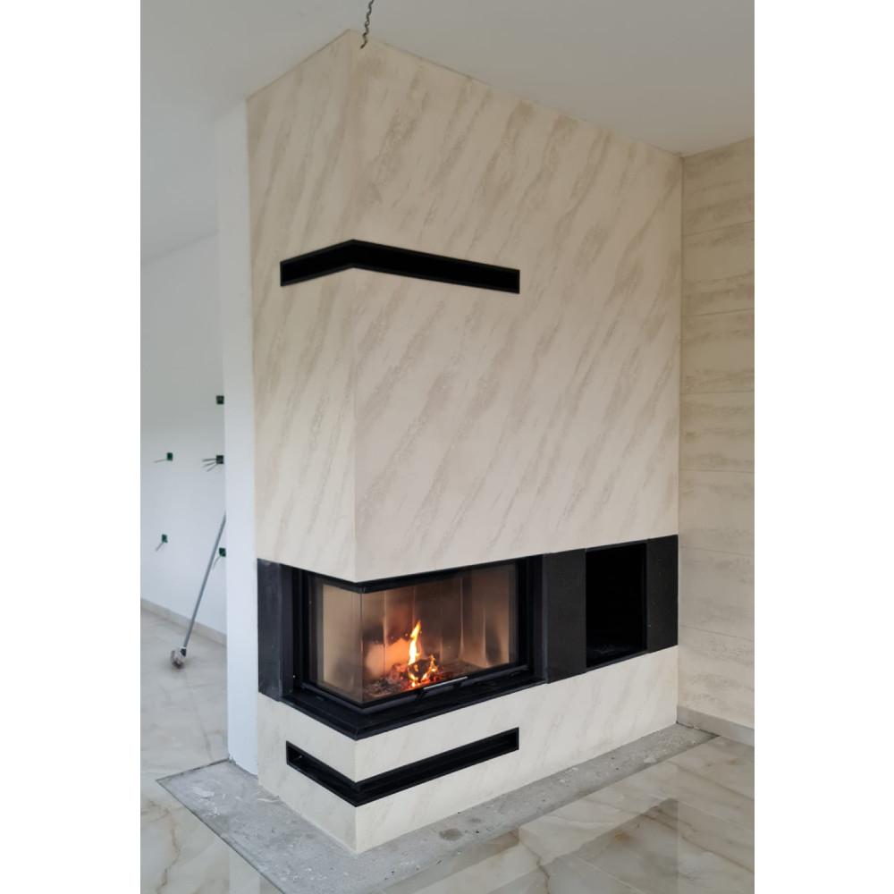 Ugaoni kamin sa sistemom podizanja Heat Romotop