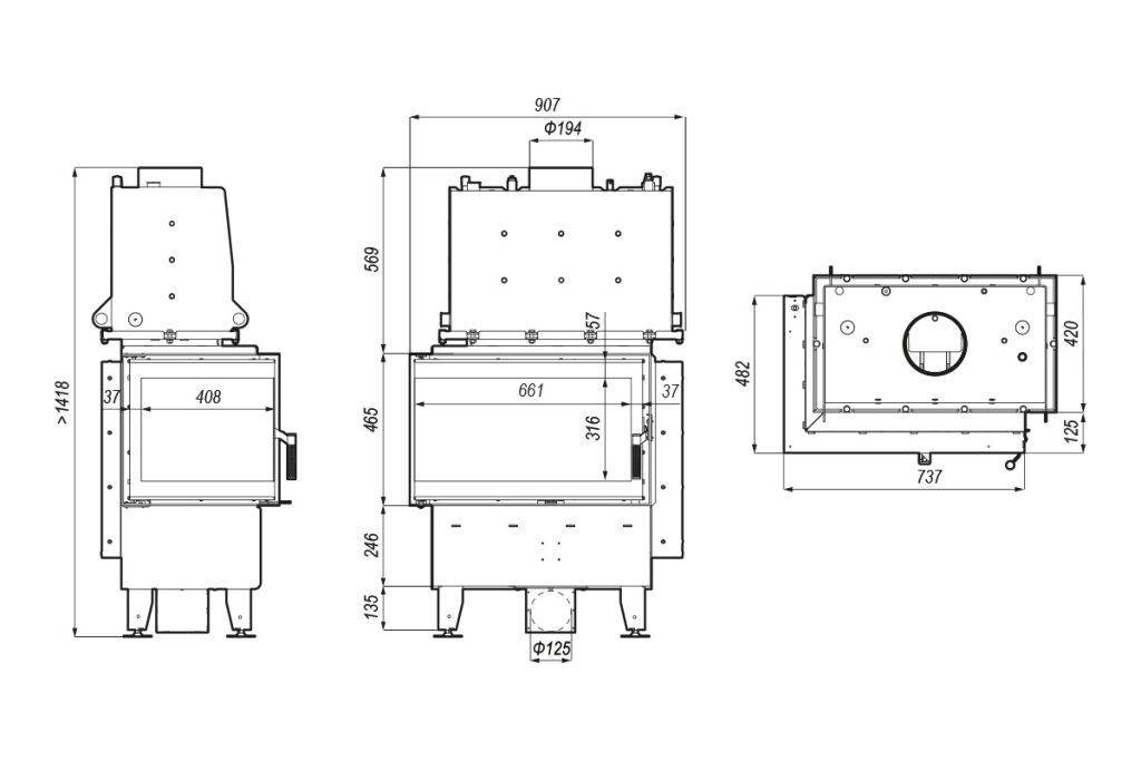 Tehnički crtež DEFRO HOME RIVA SM BL / BP SHORT